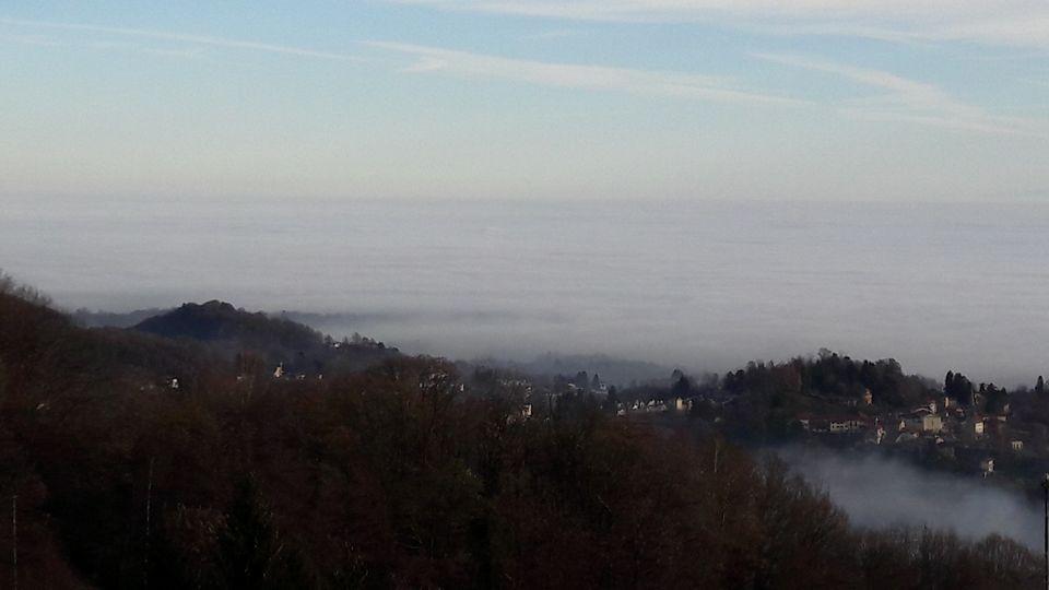 La nebbia sopra Biella