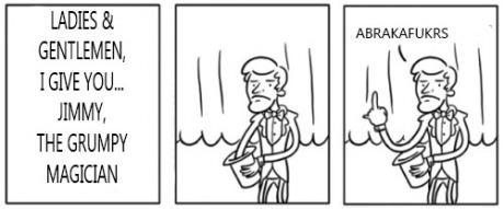 The grumpy musician