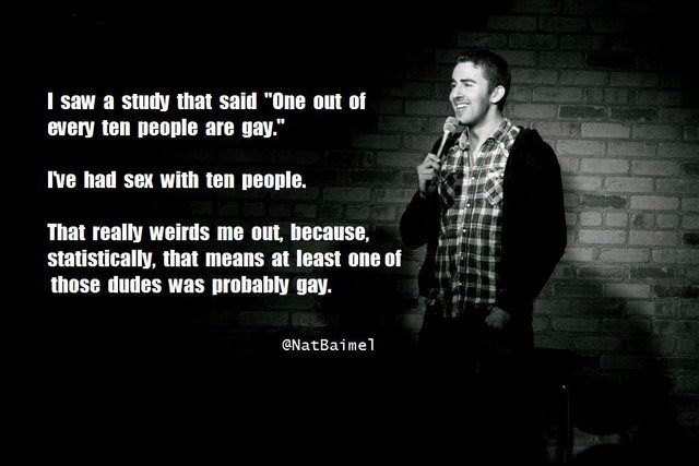 One out of every ten people are gay