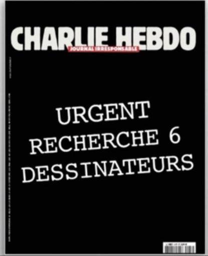 Charlie Hebdo urgent recherche 6 dessinateurs