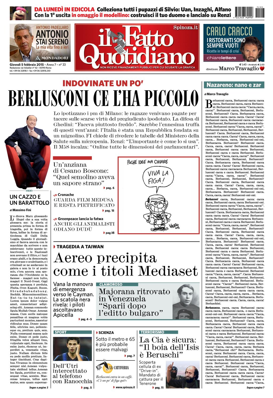 Berlusconi ce l'ha piccolo