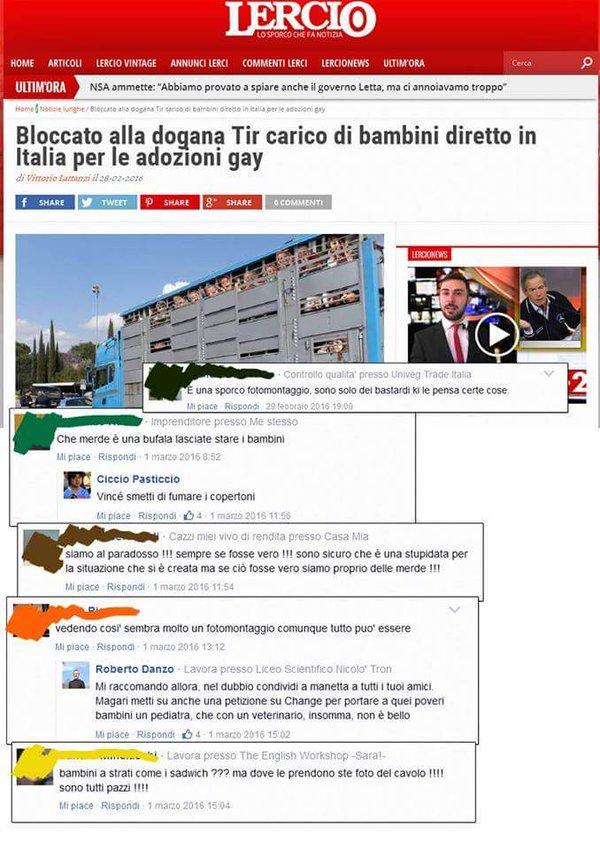 Bloccato in Italia tir carico di bambini diretto in Italia per le adozioni gay