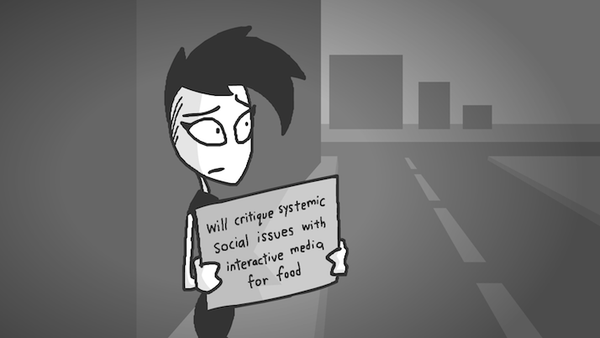 Will critique systemic social issues with interactive media for food