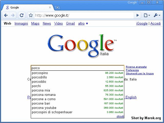 Suggerimenti di google
