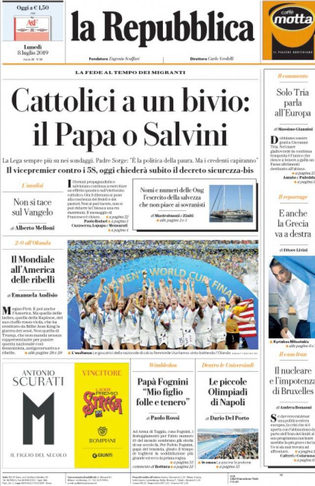 Cattolici a un bivio: il Papa o Salvini?