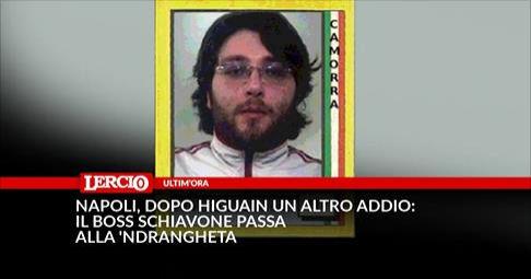 Napoli, dopo Higuain un altro addio: il boss Schiavone passa alla 'Ndrangheta