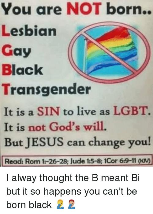 Lesbian Gay Black Transgender