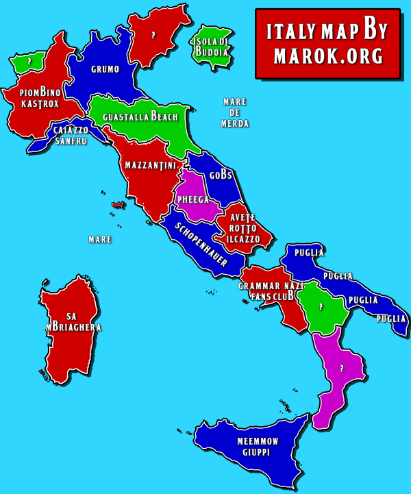 Italy Map by marok.org