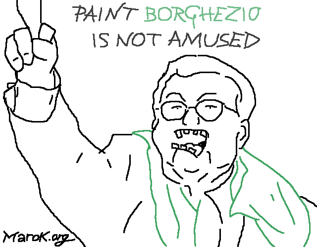 Paint Borghezio is not amused