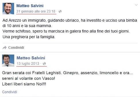 Salvini al volante