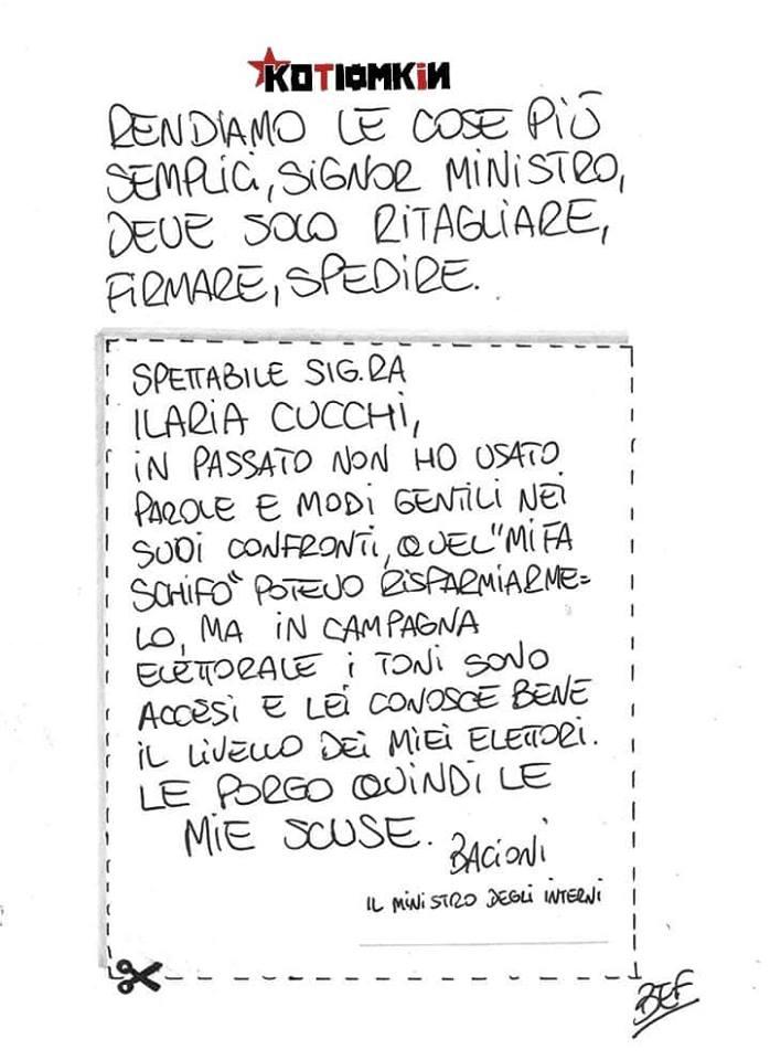 Salvini per Cucchi, Modulo Precompilato
