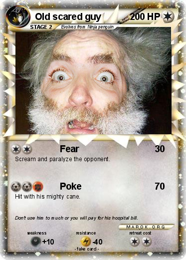 Old scared guy