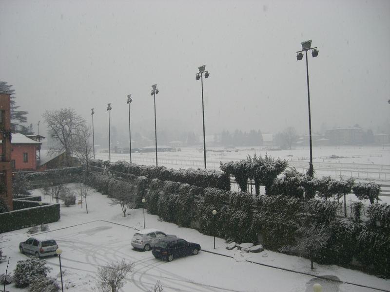 Neve sull'ippodromo