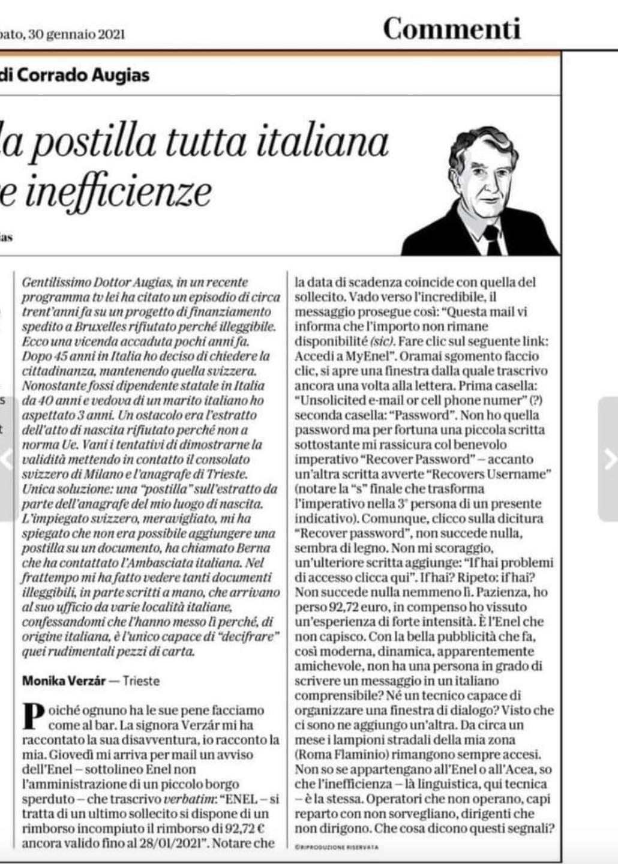 Corrado Augias: la postilla tutta italiana delle inefficienze